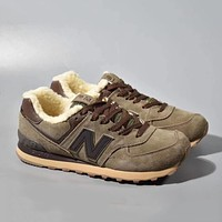 New Balance Woman Men Wool Fashion Sneakers Sport Shoes