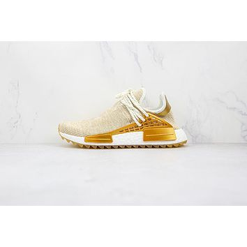 Adidas Pharrell NMD HU China Pack Happy Gold Friends and Family F99762 Sneakers