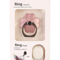 Flower Phone Ring Holder & Hook Set
