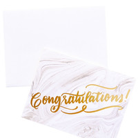 Congratulations Marbleized Card Set