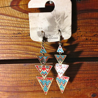 With Love from California Aztec Print Earrings