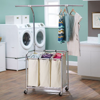 Household Essentials 6027-1 Laundry Center With Clothes Rack