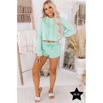 Dressed To Chill French Terry Two Piece Set (Mint)
