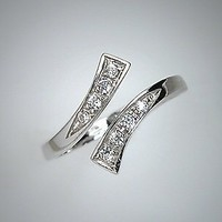 925 Sterling Silver Toe Ring CZ