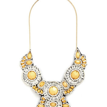 ModCloth Statement Medallion Marvel Necklace in Sunray