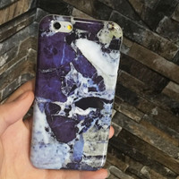 2016 Hot Blue Marble Iphone Case Cover for 6 6s plus