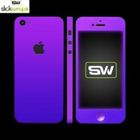 Save on Free Shipping w/ the Original SlickWraps Apple iPhone 5 Protective Skin - Glow in the Dark Purple in US AccessoryGeeks