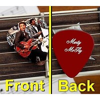 Back To The Future Marty McFly Set of 3 premium Promo Guitar Pick Pic