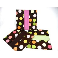Checkbook Cover Drunk Dots Fabric