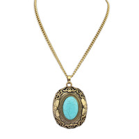 Jewelry New Arrival Stylish Gift Shiny Vintage Hollow Out Simple Design Gemstone Necklace [4918853188]