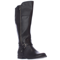 GUESS Hailee Wide Calf Riding Boots - Black