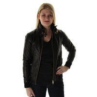 Marc by Marc Jacobs Womens Lamb Leather Quilted Motorcycle Jacket