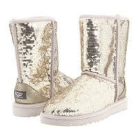 UGG Classic Sparkles Silver - Zappos.com Free Shipping BOTH Ways