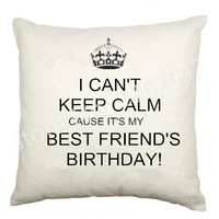 Best Friend Bestie Cushion Cover Gifts Letter Can't Keep Calm Cause Best Friends Birthday Decorative Throw Pillow Case Velvet