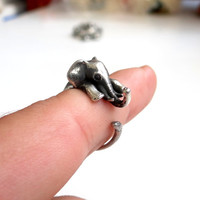 Original 925 Sterling Silver Ring Elephant Ring COOL Animal Ring, Best Selling Animal Jewelry, Sizable Jewelry, Great Power Amulet