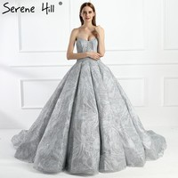 New Sexy Strapless Train Wedding Dresses Luxury Sparkly Bridal Dress
