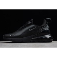 Nike Air Max 270 Premium Triple Black Mens Size For Sale