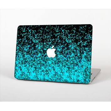 The Black and Turquoise Unfocused Sparkle Print Skin Set for the Apple MacBook Air 13""