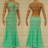 U0313 Elegant Ballroom women salsa Tango waltz standard dance dress Custom made