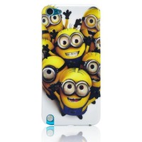 Oneshow Cartoon Style Despicable Me 2 Series Cheer Double Eyes Hard Case Cover Compatible for Apple Ipod Touch 5 5g 5th Generation