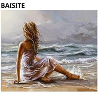 BAISITE Frameless DIY Oil Painting Pictures By Numbers On Canvas Wall Pictures Wall Art For Living Room Home Decoration 957