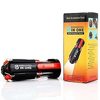 theGizmoMart 8-in-1 Multi Portable Screwdriver with LED Torch Tools Light Up Flash-light Set
