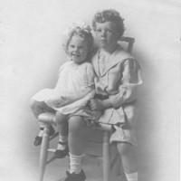 Vintage Photo Cute Sister & Brother