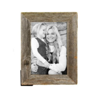 """5x7 Rustic Reclaimed Barnwood 1 ¼"""" Wide Picture Frame"""
