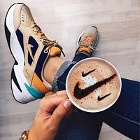 NIKE M2K TEKNO sneakers contrast Blue Green Brown Shoes