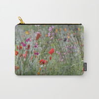 Meadow Flowers Carry-All Pouch by ALLY COXON