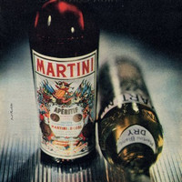 Original French Vintage Ad 1949- Martini & Rossi- Vermouth Reserved