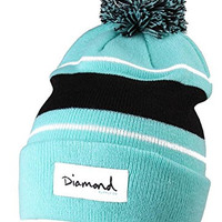 Diamond Supply Co OG Script Hat Aqua Diamond Blue Pom-Pom Ball Beanie Cap Skully