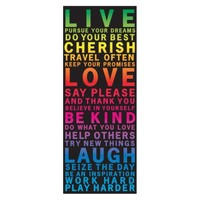 Lot 26 Live Love Subway Art Wall Decal