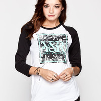 Young & Reckless New Square Womens Baseball Tee Black/White  In Sizes