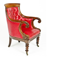 1STDIBS.COM - O'Sullivan Antiques - William IV Rosewood Library Chair
