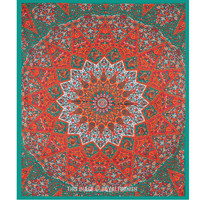 Large Multicolor Bohemian Boho Style Star Mandala Tapestry Wall Hanging Bedspread on RoyalFurnish.com