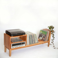 Modern Record Console | LP Shelving | Entertainment Console