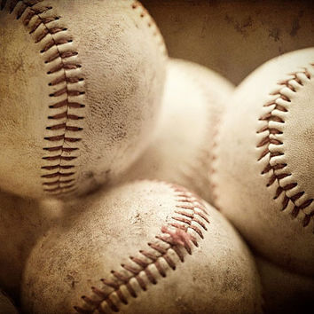 Baseball Photograph Sports Balls For by LisaRussoPhotography