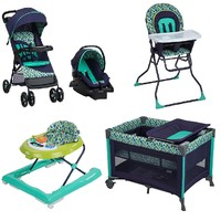 Complete Baby Gear Bundle, Stroller Travel System, Play Yard, High Chair & Walker Collection