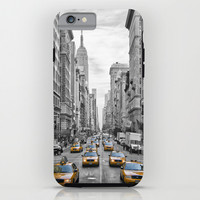 5th Avenue NYC Yellow Cabs iPhone & iPod Case by Melanie Viola