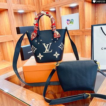 Louis Vuitton LV By the Pool Monogram Women's Picture-in-Bag Bucket Bag Shoulder Bag Two-piece Set