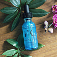 MOUNTAIN RAIN . Vegan Body Oil. Blue Perfumed Body Oil - Earth Aura Collection // Mountain Rain
