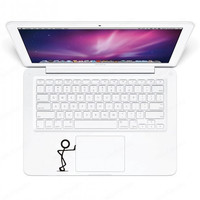 Decal Sticker Decals Stickers For Macbook Air Pro with Retina display Trackpad Keyboard Kung Fu Boy