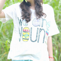 We Are Young Print T-shirt1