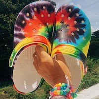 Woman's Slippers Hole Shoes Outdoor Beach Sandals Multicolor Comfortable