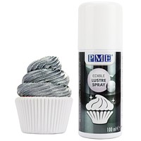 Silver Luster Spray Food Coloring