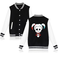 Suicide Squad Harley Quinn Jacket Woman Bomber Basic Coats Winter Jaqueta Feminina Chaquetas Mujer Jackets Veste Pink Girls