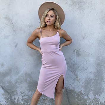 One Way Or Another Pink Midi Dress