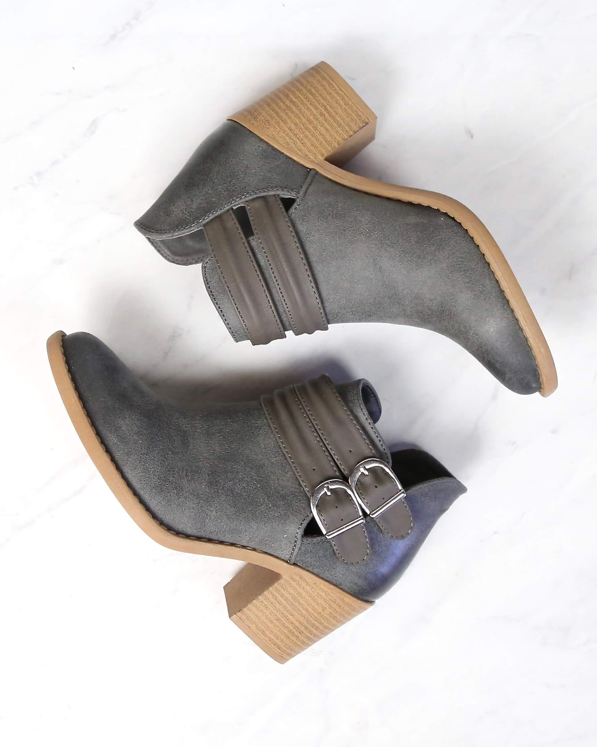 Image of Rascal Western Inspired Booties in Grey