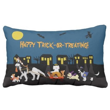 Happy Trick or Treating! Throw Pillow